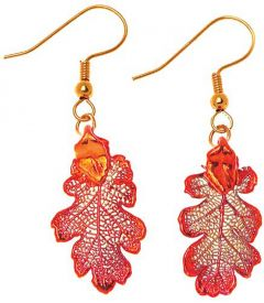 Oak Leaf Copper Earrings