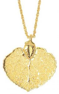 Aspen Leaf Gold Necklace