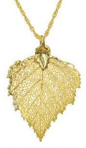 Birch Leaf Gold Necklace