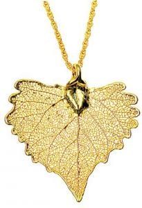 Cottonwood Leaf Gold Necklace