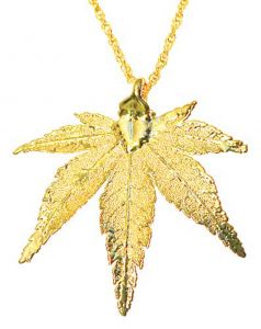 Japanese Maple Leaf Gold Necklace
