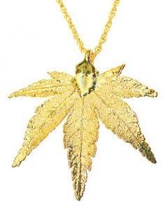 Japanese Maple Leaf Gold Necklace