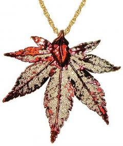 Japanese Maple Leaf Copper Necklace