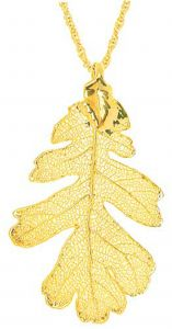 Oak Leaf Gold Necklace