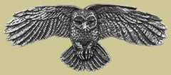 Pewter Owl Barrette