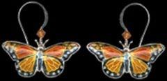 Monarch Butterfly Earrings (Dangle)