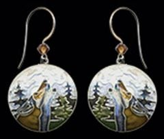 Wolf Moon Earrings