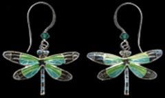 Radiant Gossamer Wing Dragonfly Earrings (Dangle)