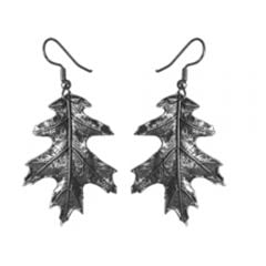 Pewter Oak Leaf Earrings