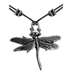 Pewter Dragonfly Necklace