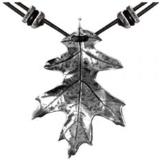 Pewter Oak Leaf Necklace