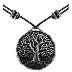 Pewter World Tree Necklace