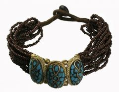 Tibetan Naga Tribal Bracelet (Black)