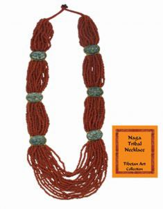 Tibetan Naga Tribal Necklace (Red)