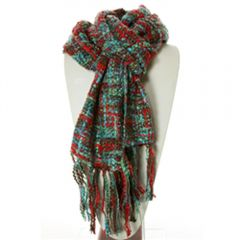 Thai Scarf (Teal, Green, And Red)