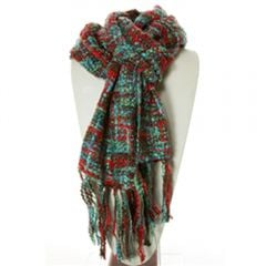Thai Scarf (Teal, Green, & Red)