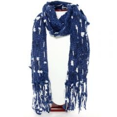 Thai Accented Scarf (Blue & White)