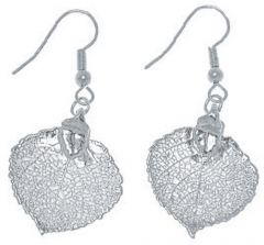Aspen Leaf Silver Earrings