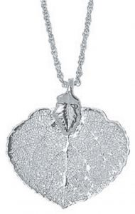Aspen Leaf Silver Necklace
