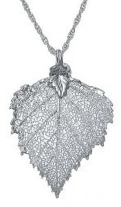 Birch Leaf Silver Necklace