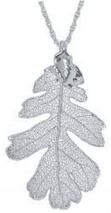 Oak Leaf Silver Necklace