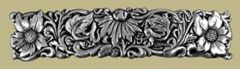 Pewter Wildflower Barrette