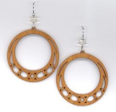 Boomerang Cherry Wood Earrings