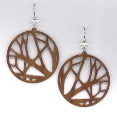 Branches Walnut Wood Earrings