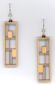 Frames Maple Wood Earrings