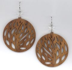Windy Walnut Wood Earrings