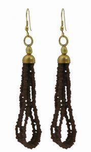 Tibetan Naga Tribal Earrings (Black)