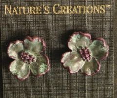 Dogwood Blossom Natural Impressions Earrings