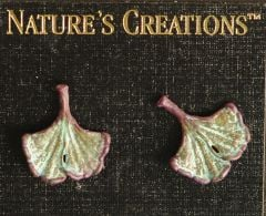 Ginkgo Leaf Natural Impressions Earrings