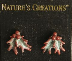 Holly Spray Natural Impressions Earrings
