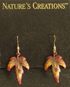 Maple Leaf Natural Impressions Earrings