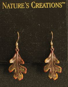 Oak Leaf Natural Impressions Earrings