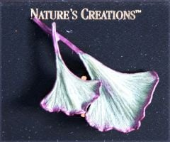 Ginkgo Leaves Natural Impressions Pin