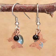 Copper Butterfly Earrings