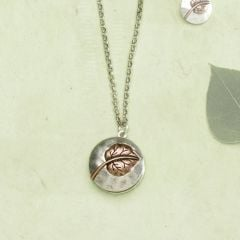 Copper Aspen Leaf Locket Necklace