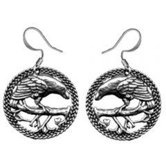 Pewter Raven Earrings