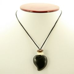 Columbian Coal Raindrop Necklace