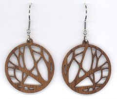 Branches Small Walnut Wood Earrings