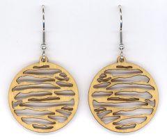 Water Small Maple Wood Earrings