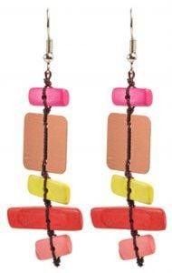 Multihued Rectangles Earrings