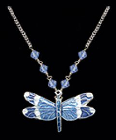 Blue-Banded Dragonfly Necklace