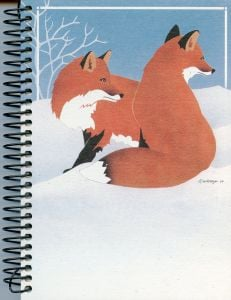 Red Foxes (Spiral-Bound Journal)