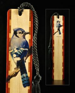 Blue Jay Wood Bookmark