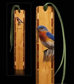 Bluebird Wood Bookmark