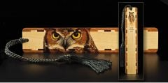Great Horned Owl Wood Bookmark