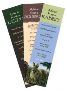 """Advice From…""™ Backyard Mammals (Bookmark Set Of 3)."